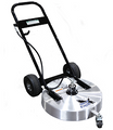 """Steel Eagle """"U"""" Handle Surface Spinner -24"""" w/Deublin Union (2 Spinner Arms )w/ Flat Free Tires"""