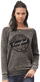 WOMENS LONG BEACH CERTIFIED WIDE NECK SWEATER / FLEECE
