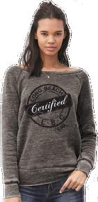 WOMENS LONG BEACH CERTIFIED WIDE NECK SWEATER / FLEECE