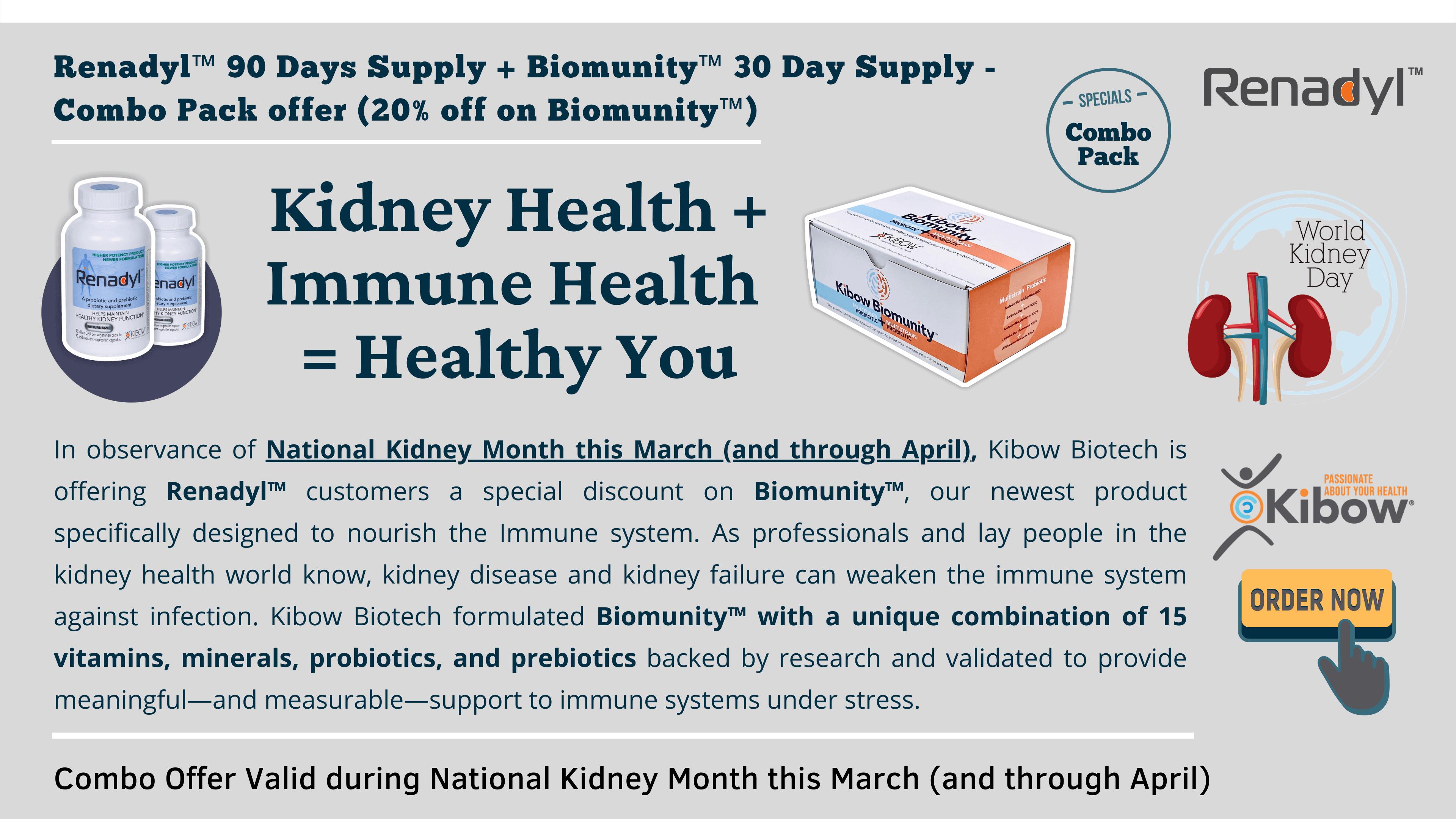 Renadyl -Biomunity - Immune health for Kidney patients