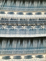 Black/Icey Blue Bohemian Viscose Jersey Knit
