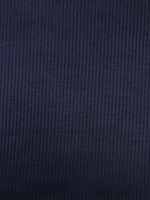 Deep Navy Blue Rib Knit