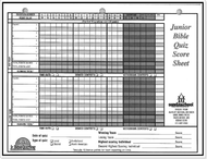 088) Junior 50 Scoresheets - Horizontal
