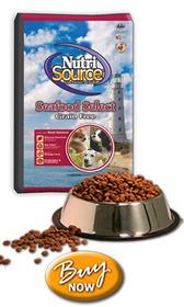 Nutrisource Grain Free Seafood Salmon Dog Food, 30 lb.