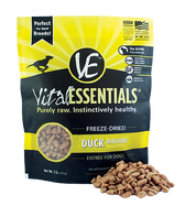 Vital Essentials Freeze Dried Mini Nibs, Duck, 1 lb.