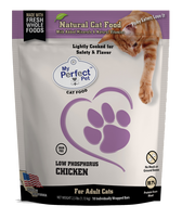 My Perfect Pet Cat Frozen Raw Low Phosphorus Chicken, 2.5#