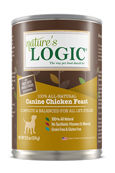 Nature's Logic Canned Canine Chicken Feast , 13.2 oz.