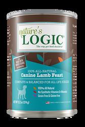 Nature's Logic Canned Canine Lamb Feast , 13.2 oz.