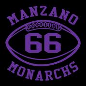 Manzano - Football-11-22 Car Decal