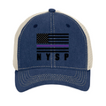 2210- NAVY HAT WITH FLAG