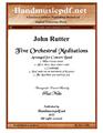 Five Orchestral Meditations