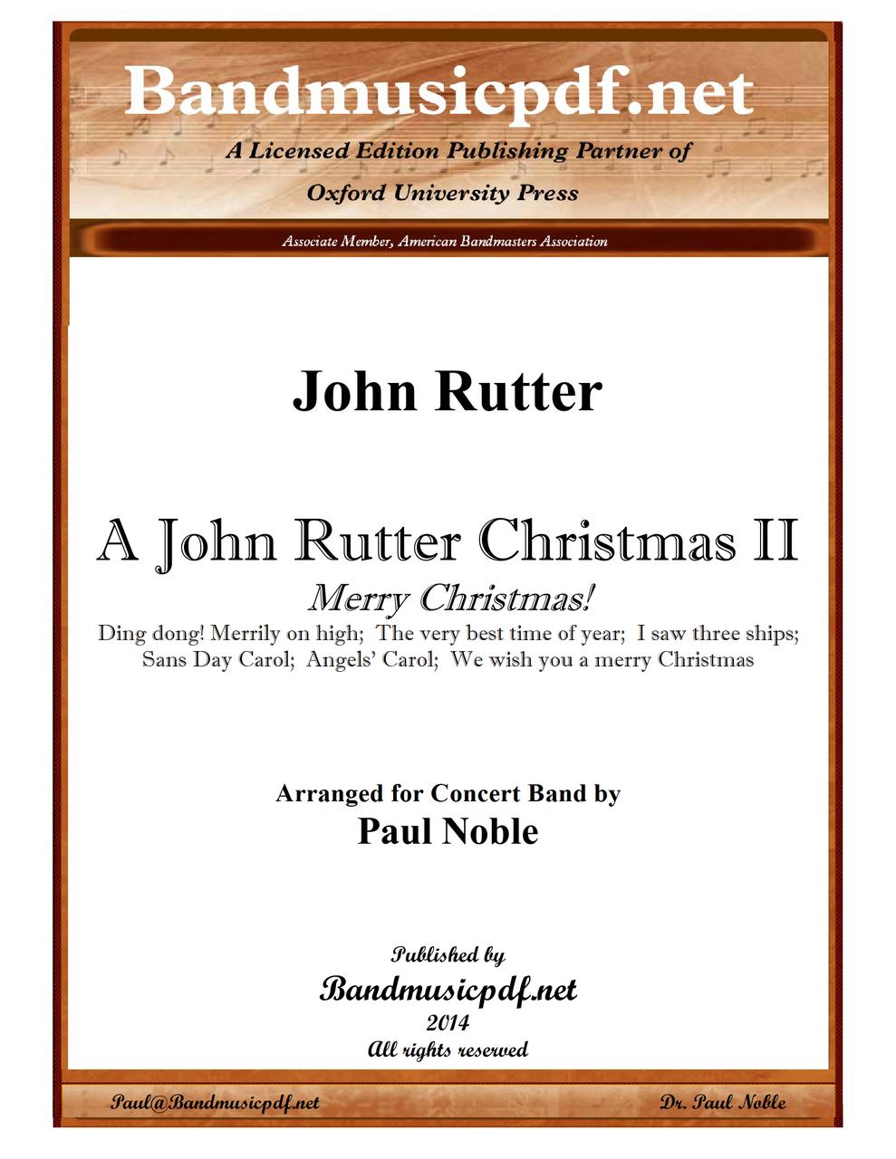 A John Rutter Christmas II - Merry Christmas - bandmusicpdf.net