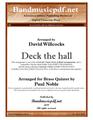 Deck the hall - Brass Quintet