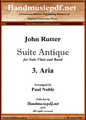 Suite Antique 3. Aria