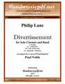 Divertissement for Solo Clarinet and Band