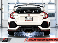 AWE Tuning 17-19 Civic Type R Track Edition Black Tip Exhaust with Front Pipe