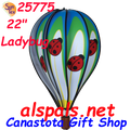 "25775 Ladybug 22"" Hot Air Balloons (25775) Wind Spinner"