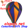 """25917  Rainbow 26"""" Hot Air Balloon (25917) Wind Spinner. Rainbow  26"""" Hot Air Balloons are a great addition to display with some of the other 26"""" Hot Air Balloons that you have."""