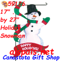 59126  Holiday Snowman : Garden Charms Inflated (59126)