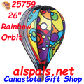 "25759 Rainbow Orbit 26"" Hot Air Balloons (25759) Wind Spinner.  The 26"" Rainbow Orbit is the newest addition in the 26"" Balloon size. It is fast becoming everyone's favorite  large balloon."