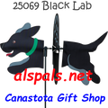 25069 Dog (Black Lab) : Petite & Whirly Wing Spinner (25069)