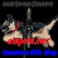 """25066 Dog (German Shepherd) 19"""": Petite Wind Spinner (25066)"""
