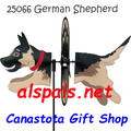 "25066 Dog (German Shepherd) 19"": Petite Wind Spinner (25066)"