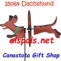 25064 Dog (Dachshund) : Petite & Whirly Wing Spinner (25064)