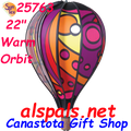 "25763 Warm Orbit 22"" Hot Air Balloon (25763) Wind Spinner"