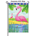 Pink Flamingos: Garden Flag
