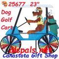 """25677  Golf Cart 23"""" Dog : Vehicle Spinners (25677)"""