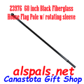 "23976 House Flag 60"" Pole Black Fiberglass (23976)"