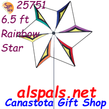 25751 Rainbow Star : 6.5' Wind Blades (25751).   Wind Blades and Wind Generators are attention grabbing display pieces. Whether for a business or your residence,  it will be the biggest on the block or in the neighborhood. Order from Canastota Gift Shop today.