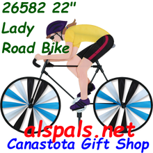 """26582  Lady 22""""  Bicycles & High Wheel Bicycles Spinners (26582)"""