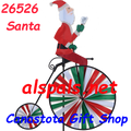 26526 Santa   Bicycles & High Wheel Bicycles Spinners (26526)
