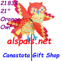 "21834 Owl (Orange) 21""    Whirligig (21834)"
