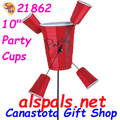 "21862  Party Cups 10"" : Whirligig (21862)"