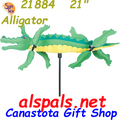 "21884  Alligator 21"" , Whirligig (21884)"