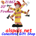 "21867  Fireman 20"" , Whirligig (21867)"