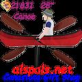 """21831  Canoe 28"""" , Whirligig (21831)"""