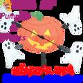 """21866  Pumpkin & Ghosts 10"""" , Whirligig (21866)"""