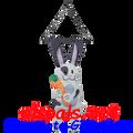"Bunny (Fluffy) 14"": Garden Swingers (59014)"
