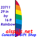 23711   Rainbow ( Ripstop ) Feather Banner (23711)