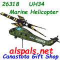 """26318 UH-34 Marine Helicopter 28"""" : Airplane Spinners (26318)"""