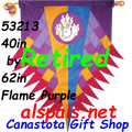 53213  Progressive Banner - Flame ( Purple ) (53213)