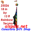 25526  Rainbow Teco Feather Banners (25526)