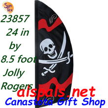 23857  Jolly Roger 8.5ft : Prestige Feather Banner (23857)