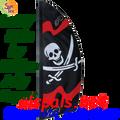 23857  Jolly Roger 8.5ft : Prestige Feather Banner (23857)