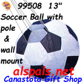 "99508  13"" Soccer Ball with 60 inch Pole & Wall Mount (99508)"