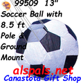 "99509  13"" Soccer Ball with 8.5 ft Pole & Ground Mount (Stake) (99509)"
